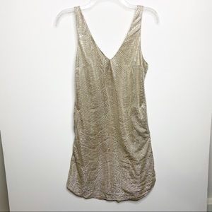 Lilly Pulitzer Bailey Platinum Gold Dress Pockets